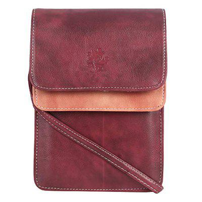 b4bags Mobile Pouch Sling Bags for Girls.PU Leather.Adjustable Crossbody Strap.Multi Pockets. (MD0169_big Maroon with Peach_big)