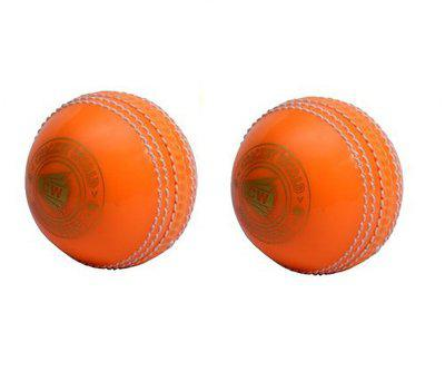 CW Spin Synthetic Cricket Ball for Practice Indoor Incredible Light Weight Boy - Men (Pack of 2, Orange)