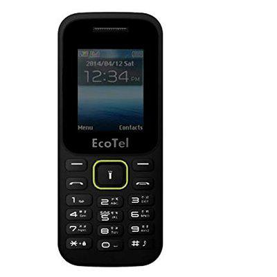 Ecotel E16 Slim Card Size Dual Sim Phone with External Memory Slot 1.8 inches Display Only Mobile Phone and Charging Cable in Box (Black)