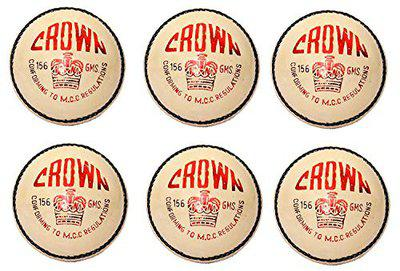 CW Crown White Cricket Season Ball 4 Piece Water Proof Leather Pack of 6 Men
