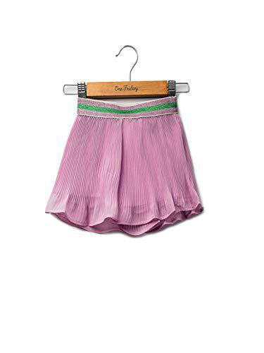 One Friday Girls Pleated Skirt with Wide - Pink