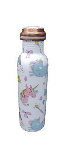 SARVSIDDHI Copper Water Bottle Junicorn Printed for Kids