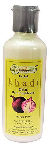 KHADI RISHIKESH onion conditioner for hair growth, onion conditioner for hair fall for men and Women 100% Pure And Natural(210 ML)