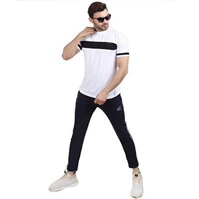ISHU Fit Joggers for Menes|Track Pant for Menes, Boys Track Pant for Daily Uses Casual Wear and Easily Adjustable to Your Waist According to The Desired Comfort Black