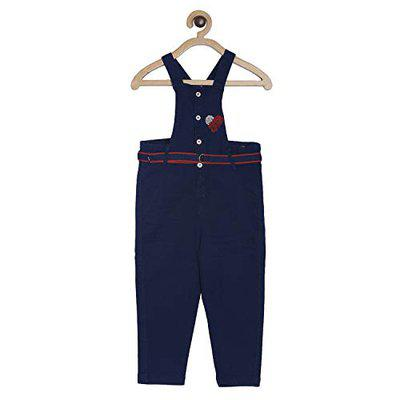 Tales & Stories Baby Girl's Dungaree (I330110-24M-DB_Dark Blue_18-24 Months)