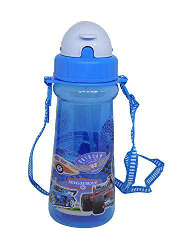 Prime Sipper Water Bottle for School Kids Boys and Girls Water Bottle for Gift Multi Color Pack of 1 (Kids Sipper Water Bottle -4)