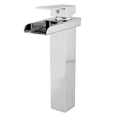 Acasa THEO Mixer Tap for Bathroom Wash Basin (501-2, Brass Body with Zinc Handle, Chrome Finish & 2 Inlet Hoses)