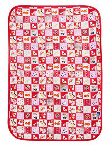 Breathable & Total Dry Sheet Protector Mat (Checks Red)