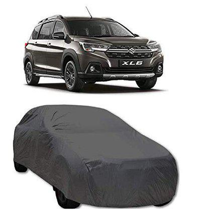 Starvin CAR Cover for Suzuki XL 6 Model || Export Quality Fabric || Water Resistant and UV Protection || Triple Stitched || Dark Grey Color || with Carry Bag || Without Mirror Pocket || V8 || RD54
