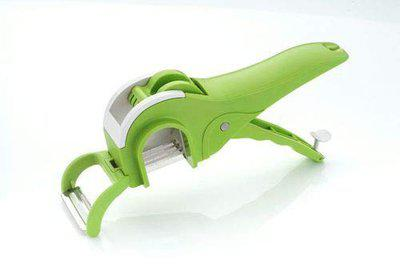 Apex 2 in 1 Multi Cutter with Peeler for Vegetable and Fruit (Green)