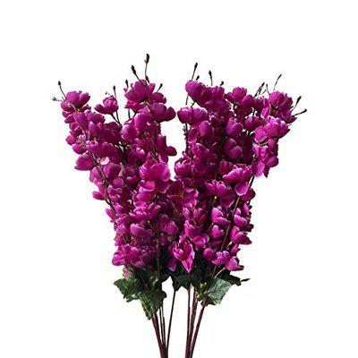 Ryme Beautiful Purple Orchids Artificial Flowers for Home Decorations (Pack of 2)