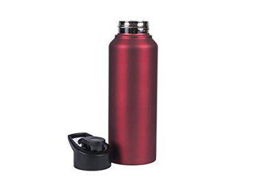 Urban Gear Sigma Stainless Steel Flip Cap Sports Bottle for School Kids, Men & Women - 750ml (BPA Free) Red Color
