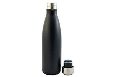 Urban Gear Stainless Steel Hot n Cold Screw Cap Bottle for School Kids, Men & Women - 500ml (BPA Free) Black Color