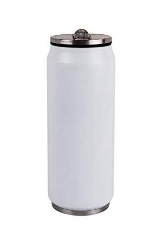 Urban Gear Stainless Sipper with Straw Steel Double Wall Sports Bottle - 550ml (BPA Free) White Color