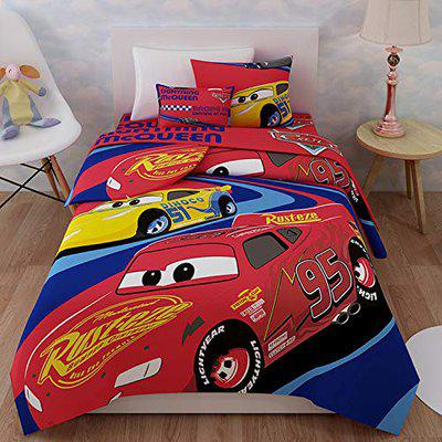 Sassoon Cars Printed Single AC Blanket for Kids- Red (150cm X 220 cm)