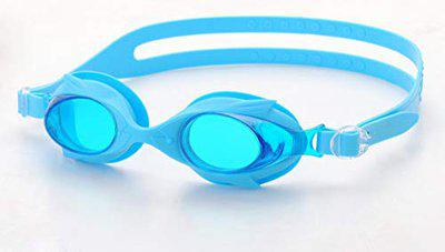 Saeko Unisex Swimming Goggle with Ultra Anti Fog, UV Protection for Junior (Blue)