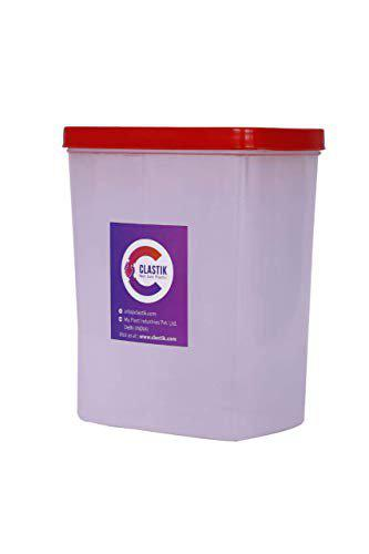 Clastik Modular Multi Purpose Container, 2 Litres Red (Set of 4 Red)