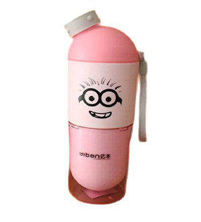 GeekGoodies M School Travel Water Bottle With Drinking Glass - Pink 400ml