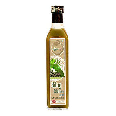 Nutriorg Immunity Booster Juice (Giloy Neem Tulsi)   Natural Juice for building immunity   Only brand to use organically Grown Neem and Tulsi