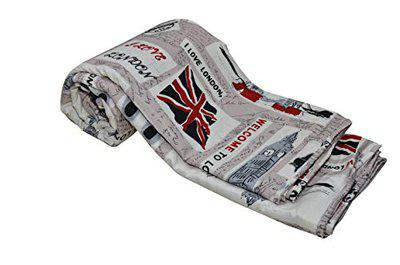 IndiWeaves Microfibre Lightweight Reversible Three Layered Double Bed Top Sheet Blanket AC Dohar (London Flag - Multicolor)