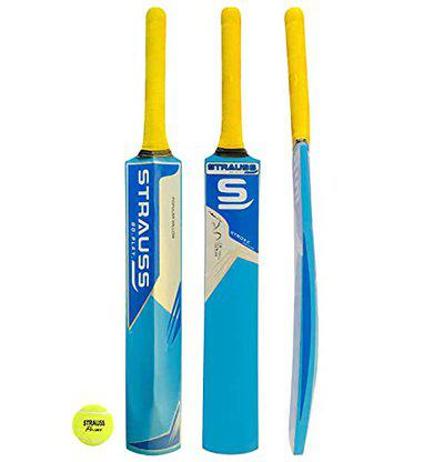 Strauss Popular Willow Cricket Bat with Ball (PW-200)