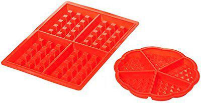SYGA Silicone Baking Round & Square Waffles Mould Muffin Pans Baking Moulds