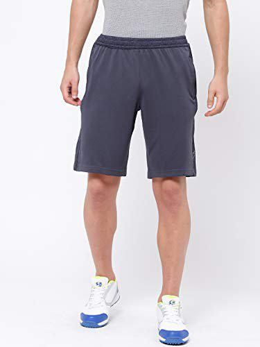 SG Men Polyester Solid Sports Shorts Navy Blue