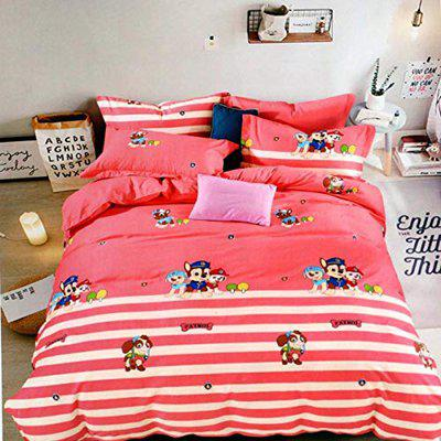 24x7 Home Store Premium Cotton Double Bed Cartoon Bedsheet with 2 Pillow Cover ( Bedsheet Size 90x100 inches, Pillow Size 46x68 Cms)