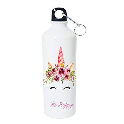Shopbuzz Cute Unicorn Print Aluminum Water Bottle for Office, Gym, School, Travel, | Sipper for Kids & Adults (750ML)