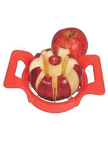 Bluewhale Plastic Apple Cutter Manual Fruit Slicer Divider with Handle for Kitchen - Pack of 1