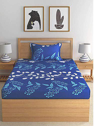 Genius Homes Micrifibre Single Bed Sheet with 1 Pillow Cover