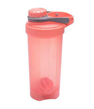 IRIS Protein Shaker Bottle 24oz, Sports Shake Mixer Bottle with Embossed Scales, Leak-Proof Screw-top, BPA Free, Rapid Mixing Design, Gym Water Bottle Mixer for Quick Easy Nutrition Supplement (Pink)