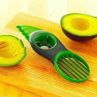 AmaZeus 2 Pieces 3 in 1 Plastic Avocado Slicer Knife Corer Fruit Peeler Cutter Pulp Separator.