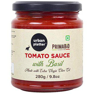 Urban Platter Tomato Sauce with Basil, 280g / 9.8oz [Product of Italy, Made with Extra Virgin Olive Oil]