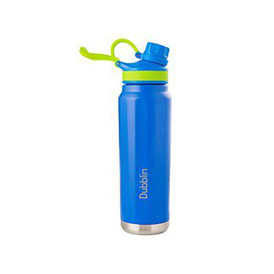DUBBLIN Rambo Premium Stainless Steel Double Wall Vacuum Insulated BPA Free Water Bottle, Sports Thermos Flask Keeps Hot 12 Hours, Cold 24 Hours (Blue 710 ML)