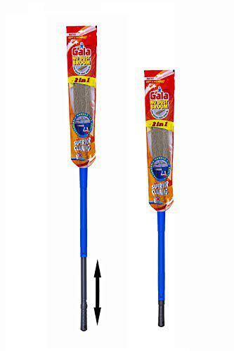 Gala Synthetic 2 in 1 No Dust Broom with Extendable Long Handle (Blue)