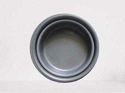 DiBha Hard anodised Black Cake Baking Mould Round/GOL/Circle Shaped Cake Pan Black Set of 3
