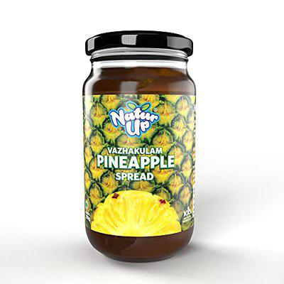 NATURUP Pineapple Spread (Jam), 250g   Now with More Fruit, Less Sugar   100% Natural Ingredients   No Preservatives, Colours or Flavours