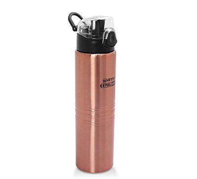 Warmeo Joy Stainless Steel Single Wall Fridge Bottle, Capacity 1000ml, 1 Piece, Colour Copper