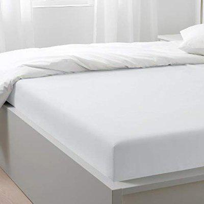 Blue Dahlia 400TC 100% Long Staple Cotton Fitted King Size Bedsheet with Elastic - Oeko TEX Certified (King, White)