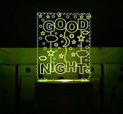 UKANI 3D Good Night Design with Star and Moon Lamp (3 Inch)