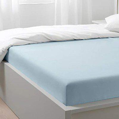 Blue Dahlia 400TC 100% Long Staple Cotton Fitted King Size Bedsheet with Elastic - Oeko TEX Certified (King, Sky Blue)