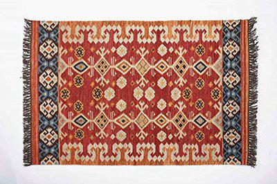 Contrast Living Firon Wool Rug/Runner/Floor Carpet/Mat - Anti Skid, Soft Area Rugs for Living Room, Dining Area, Playroom, Study Room, Home Decor (Multi, 120x180 cm)