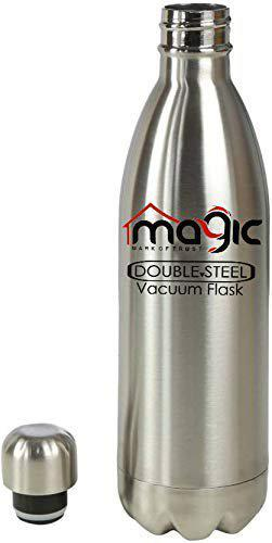 Kitchen King Magic Thermosteel Double Wall Vacuum Insulated Stainless Steel Cola Bottle (1000ml)