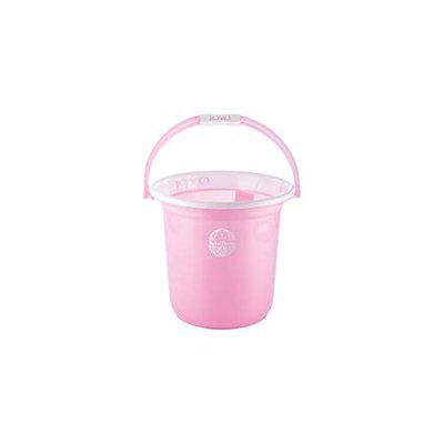 ORENAME Joyo Bucket Better Home Plastic Bathroom Bucket for Home Classical Strong and Unbreakable Plastic Bucket for Bathroom Looking Plain Bucket (Multi Colour) (3 L)