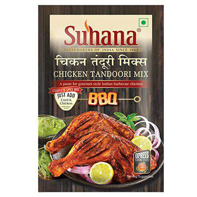 Suhana Chicken Tandoori Paste 100g Pouch  Spice Mix   Easy to Cook - Pack of 3