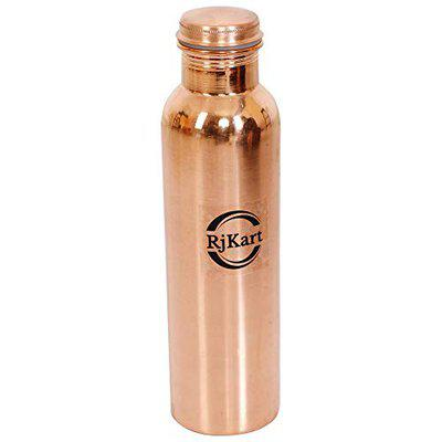 RJKART Copper Leak Proof Water Bottle Thermosteel Thermo Vacuum Flask Thermos Ayurvedic Health Benefits Bottles for Home, Office, Refrigerator, Sports, Gym, and Workout - 1 L