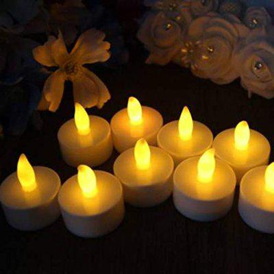 House Of Sensation Pack of 12 led Tea Light Candle for Decoration and Diwali Candle Candle(Multicolor, Pack of 12)