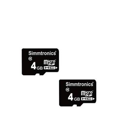 Simmtronics MicroSD 4GB Memory Card Class 10 with 5 Year Warranty (Pack of 2)
