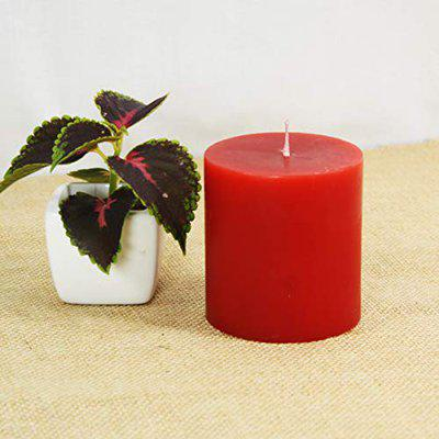 Maxime Candles Decorative Red Pillar Candle - 3(H) X 3(D)   Candles for Decoration   Candles for Home Dcor   Centerpieces for Dining Room   Candles for Gifting